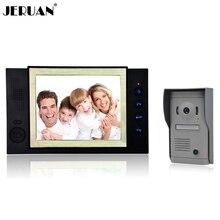"""JERUAN 8 """"teléfono video de la puerta de pantalla de alta definición cámara de Alto grado de metal panel con grabación de vídeo y Foto función de almacenamiento"""
