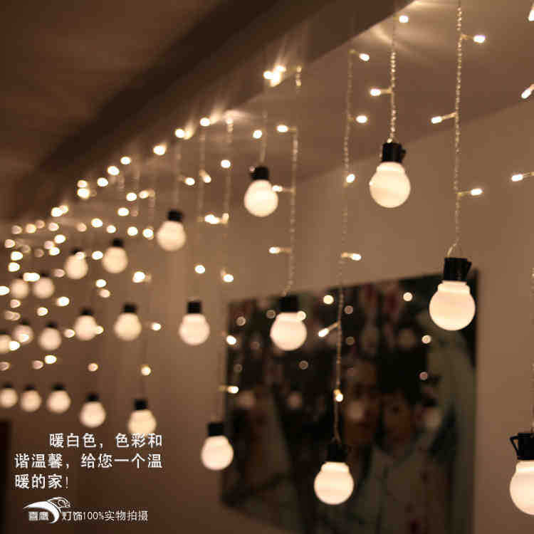 Holiday LED Light Strings 140pcs LED Lights 28 Pcs LED Bulb Decorations  Lights For Christmas Party Courtyard Room Decor 4m In Holiday Lighting From  Lights ...