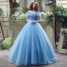 BacklakeGirls 2017 Hot Sale Vestidos de Festa de Cristal Light Blue Lace up Nupcial Mariage Organza vestido de Baile Vestido de Formatura Personalizado(China)