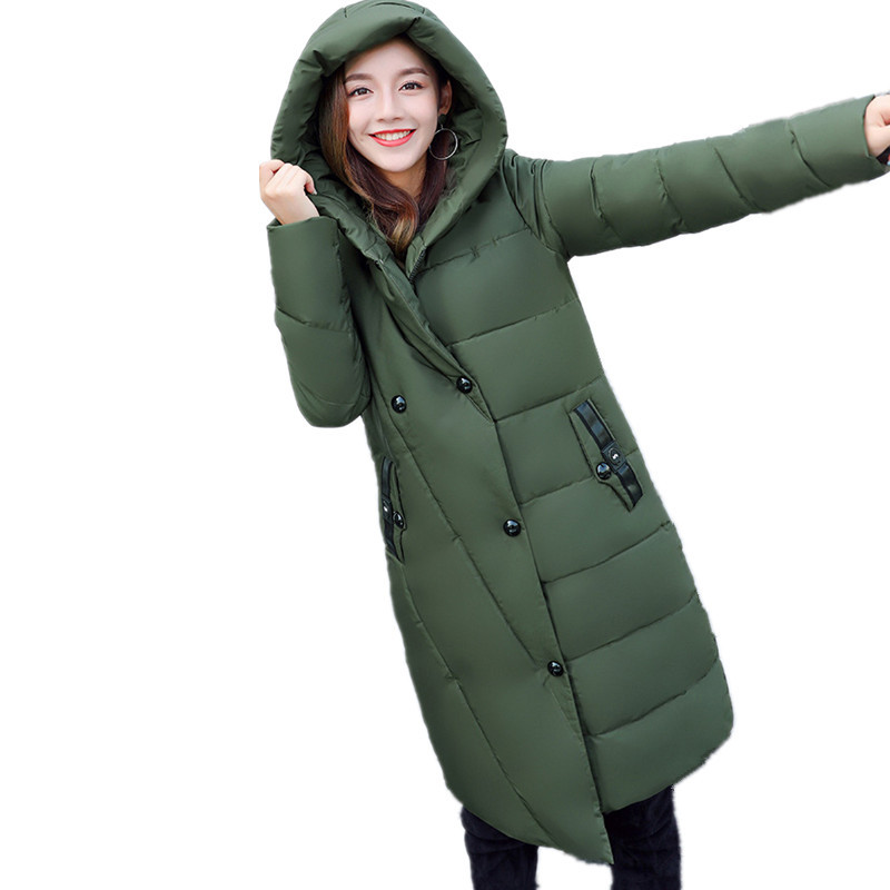 Winter Cotton Padded Womens Winter Jackets Hooded Long Warm Coat Fashion Large Size High Quality Women Jacket Parka TT3279 womens winter jackets slim fashion womens parka medium long thicker coat jackets female lapel down padded cotton jacket c1699