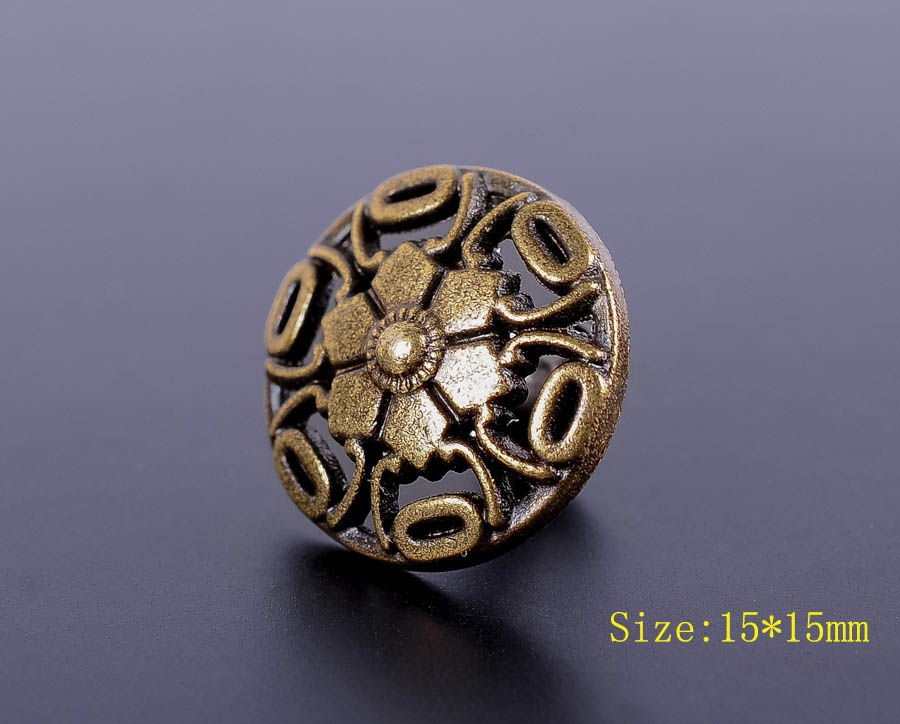 30X15mm Antike Messing Böhmischen Blume Schnelle Niet Leder handwerk Stud Dekorative