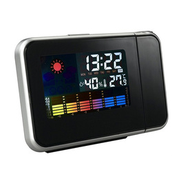 Digital Snooze Projection Alarm Clock Backlight LED Display Weather Station with Temperature Humidity Wake Up Projector Clock