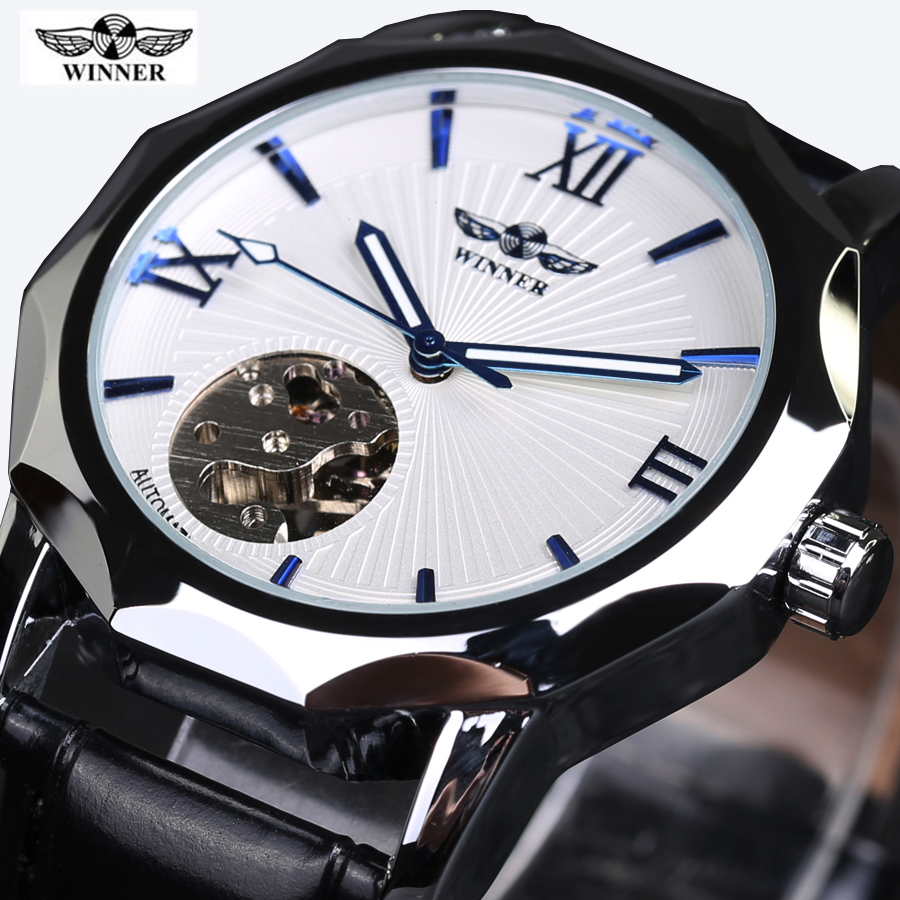 2016 WINNER Low-key Clock Mens Watches Top Brand Luxury Watch For Men Automatic Mechanical Watch Men Wristwatch Relojes Hombre orkina relojes 2016 new clock mens watches top brand luxury herren cool watche for men with gift box montres