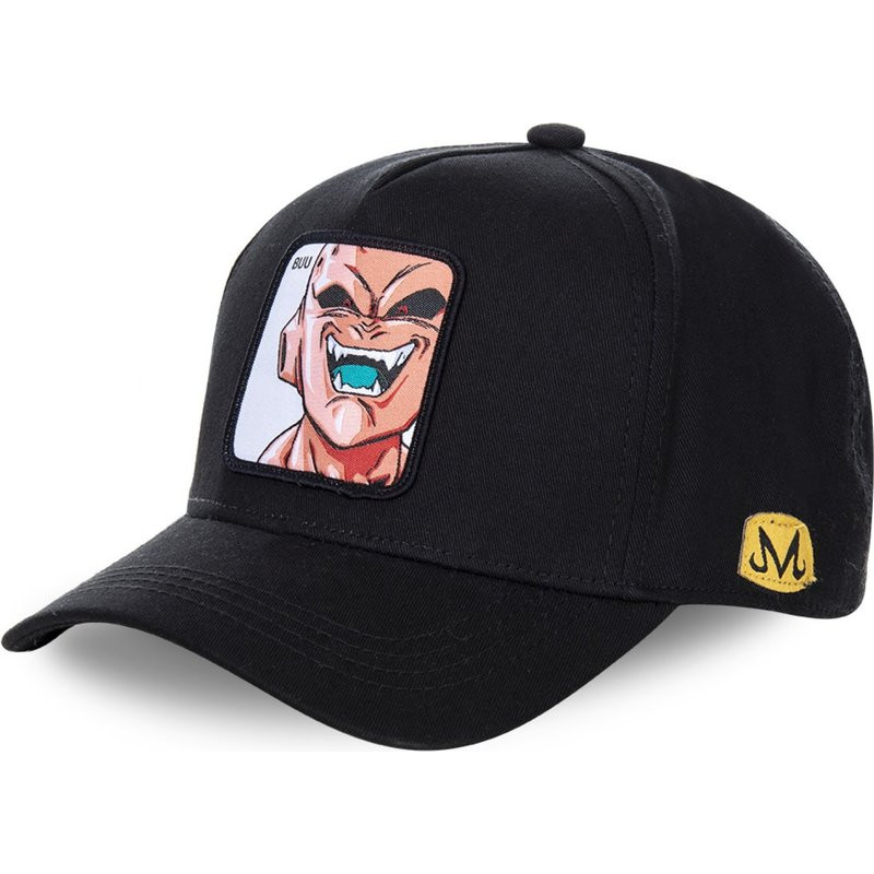 New Dragon Ball Hat Anime Majin Buu Cotton   Baseball     Cap   High Quality Curved Brim Black Adjustale Snapback   Cap   Gorras Casquette