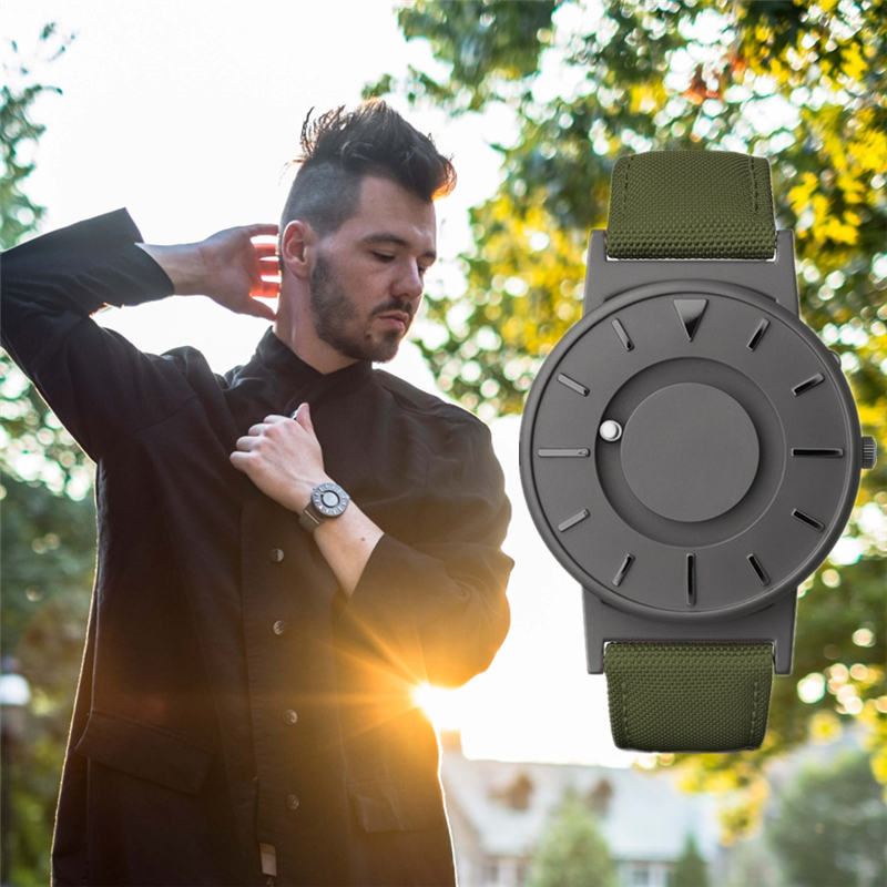 EUTOUR green canvas creative Watches Top Brand Luxury Military Sport quartz Watch Men Male magnetic force Wristwatches Clock xinge top brand luxury leather strap military watches male sport clock business 2017 quartz men fashion wrist watches xg1080