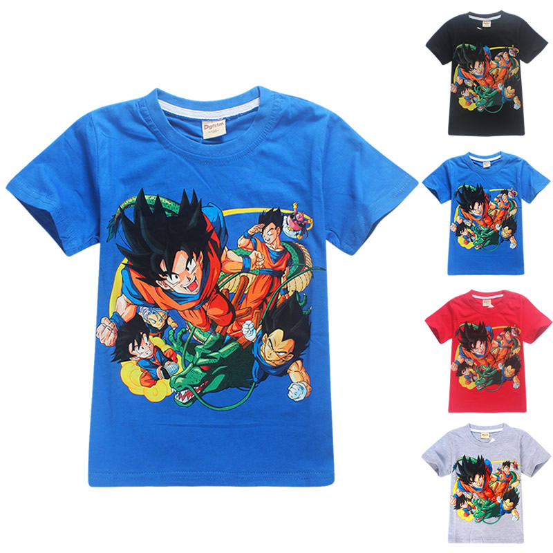 dragon ball t shirt summer top kids clothes cartoon girls boys tops 2018 kid t shirts funny t shirts pure cotton tshirt 4-12Y