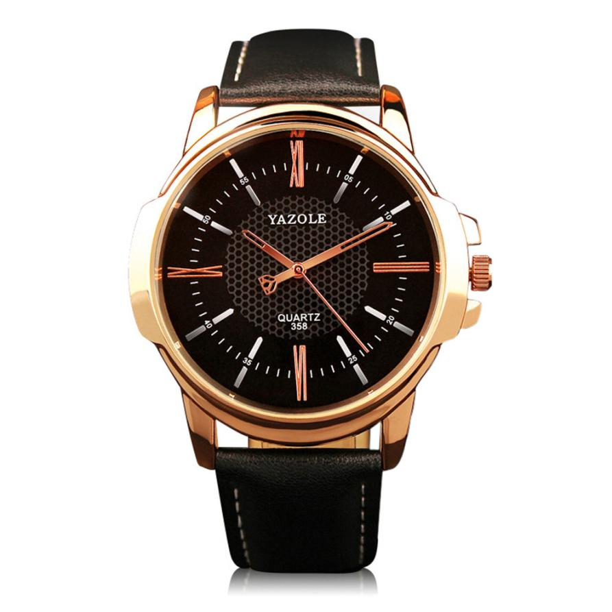 Yazole wrist watch men 2017 top brand luxury stainless steel quartz military sport watches for for Watches brands for men