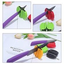 Portable Mini Kitchen Knife Sharpener Ceramics Knife Sharpener Kitchen Tools Fast Knife Sharpening Whetstone Knife Accessories цена 2017