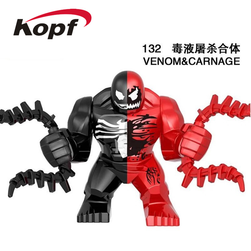 Single Sale Building Blocks Super Heroes Venom Avengers Riot Thanos Carnage Hulk Figures Learning Toys For Children Model EG132 image