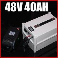 Lifepo4の48ボルト40ahポータブルバッテリー、電動自転車スクーターパック2000ワット