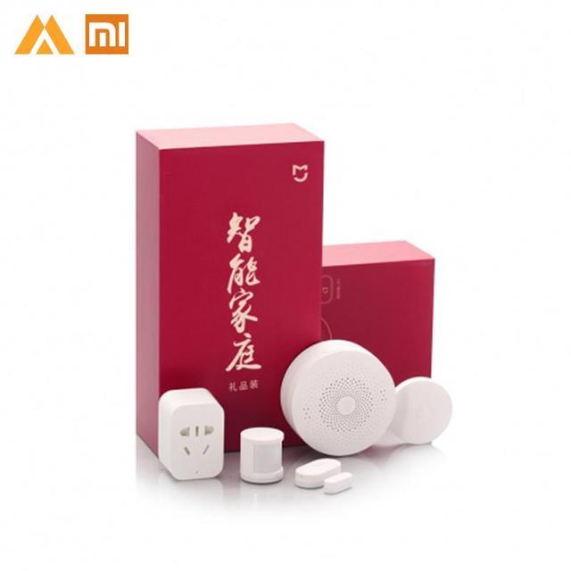 Xiaomi mi jia Smart Home Kit Gateway ventana puerta sensores cuerpo Sensor interruptor inalámbrico mi 5 en 1 hogar inteligente kit de seguridad