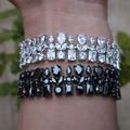 popular cubic zirconia Bracelet for Women blange trendy geometric  N6082