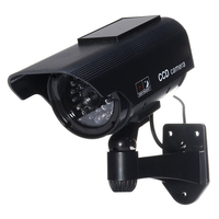 2 Packs 4 In Pcs Waterproof LED Indoor Outdoor Solar Powered Fake Simulated Dummy Security Camera