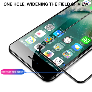 Image 2 - 3D Full Cover protective Glass For iPhone 6 6s 7 8 Plus X glass flim iPhone XS Max XR screen protector tempered glass on iPhone7