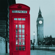 Creative London Big Ben phone booth waterproof polyester shower curtains to send hooks household items hotel dedicated curtain