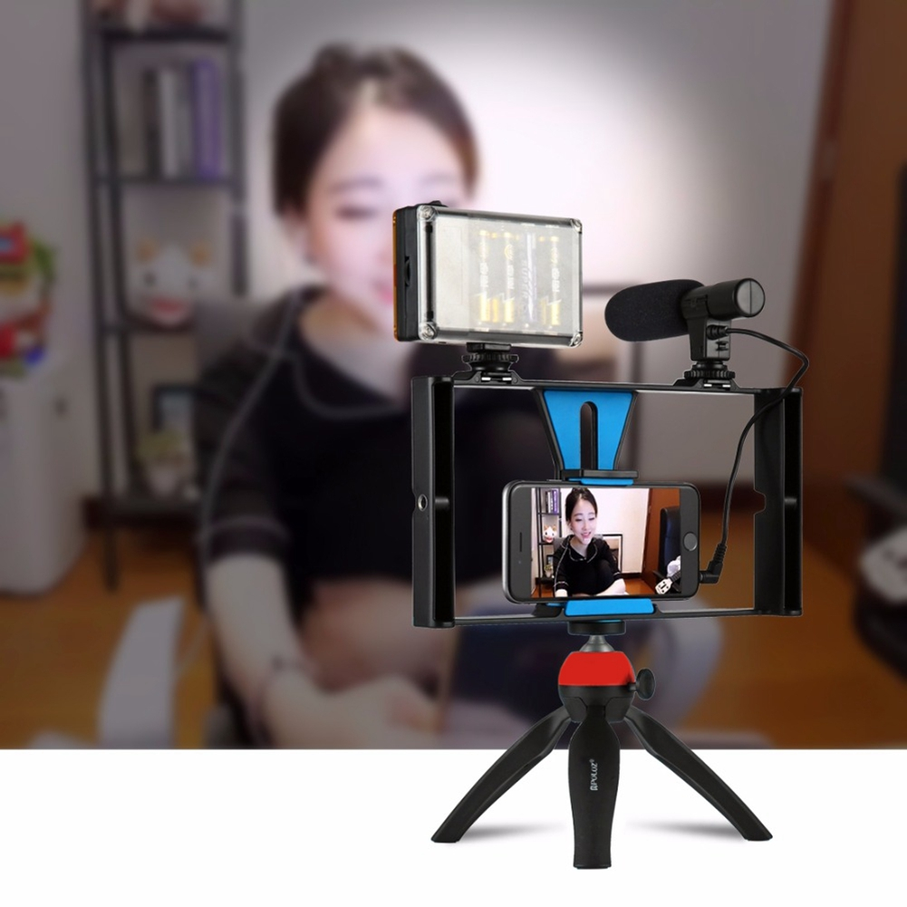 все цены на PULUZ Handheld Smartphone Video Rig Case for iPhone X Samsung,Phone Rig Stabilizer for Live stream Youtube Filmmaking Vlogger онлайн