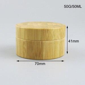 Image 2 - Копилка для косметики из натурального бамбука, 12 шт., 10 г, 30 г, 50 г