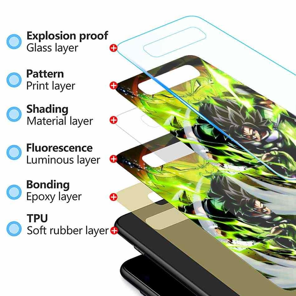 Rồng Bóng Kính Cường Lực Dành Cho Samsung Galaxy S20 S10 S10e S9 S8 Plus A50 A70 Note 10 + 5G Vỏ Điện Thoại Vỏ