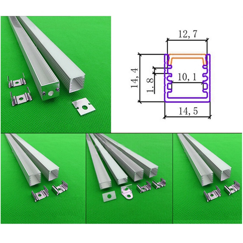 5-30pcs/lot 40inch led aluminium profile for led bar light, slim 14.5*14.5mm channel, 12mm strip aluminum housing