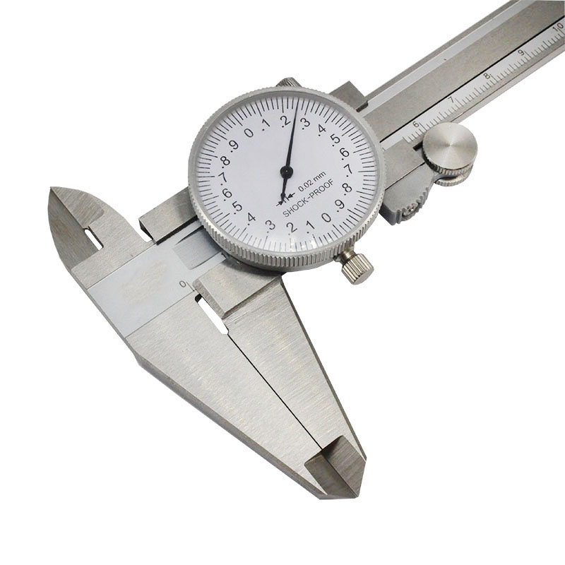 Dial Calipers 0 200mm for 0.02mm high precision Vernier caliper Oil gauge Shockproof Measuring tool Caliper with table