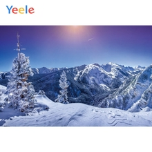 Yeele Winter Landscape Bedhead Snowy Mountains Sun Photography Backdrops Personalized Photographic Backgrounds For Photo Studio