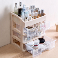 Drawer type large cosmetic storage box desktop makeup Organizers Dormitory Dresser skin care finishing storage rack mx01051533