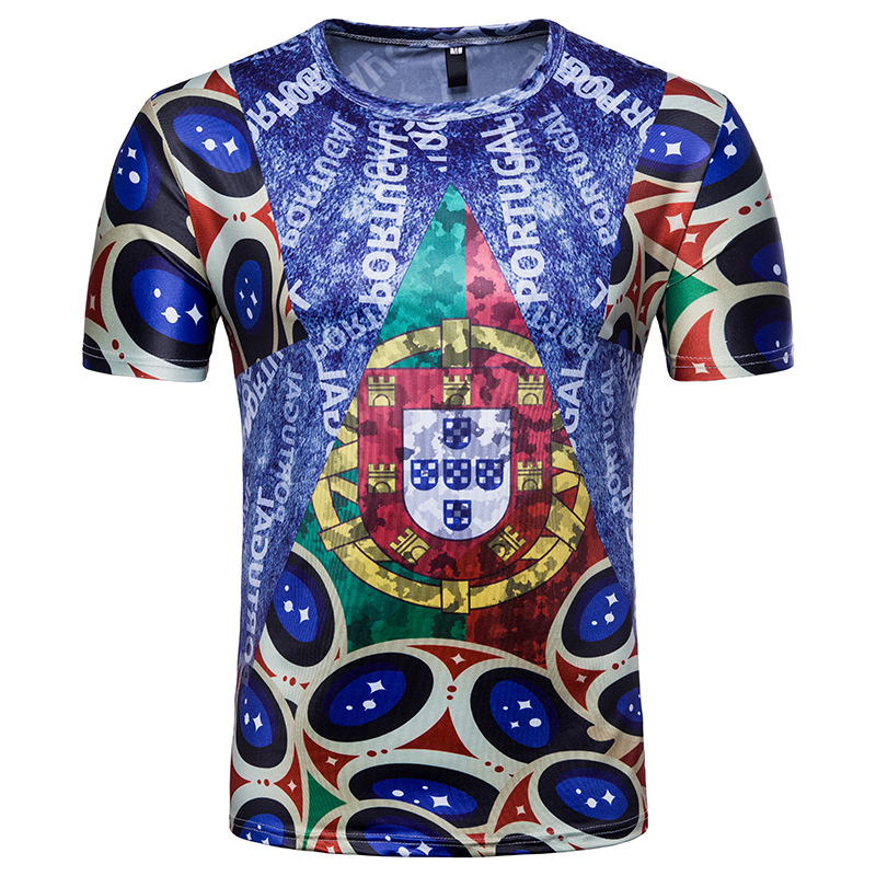 casual tee shirt 2018 russia world cup gold team portugal. Black Bedroom Furniture Sets. Home Design Ideas