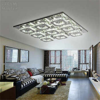 Luxury Large Modern LED Ceiling chandelier Light K9 Crystal square leds chandeliers Art Luminaire Luster living room lighting - DISCOUNT ITEM  6 OFF All Category