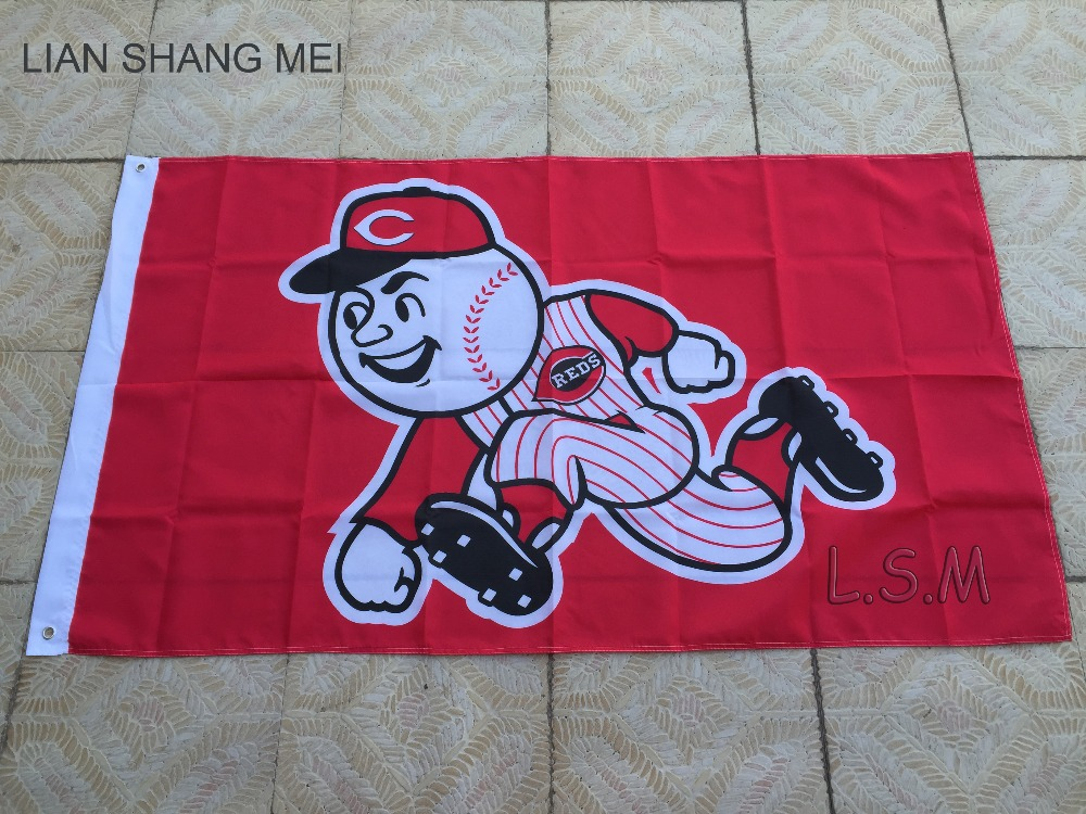 Cincinnati Reds Major League Baseball Cincinnati Reds 90 * 150CM MLB Pennant sports decoration free shipping