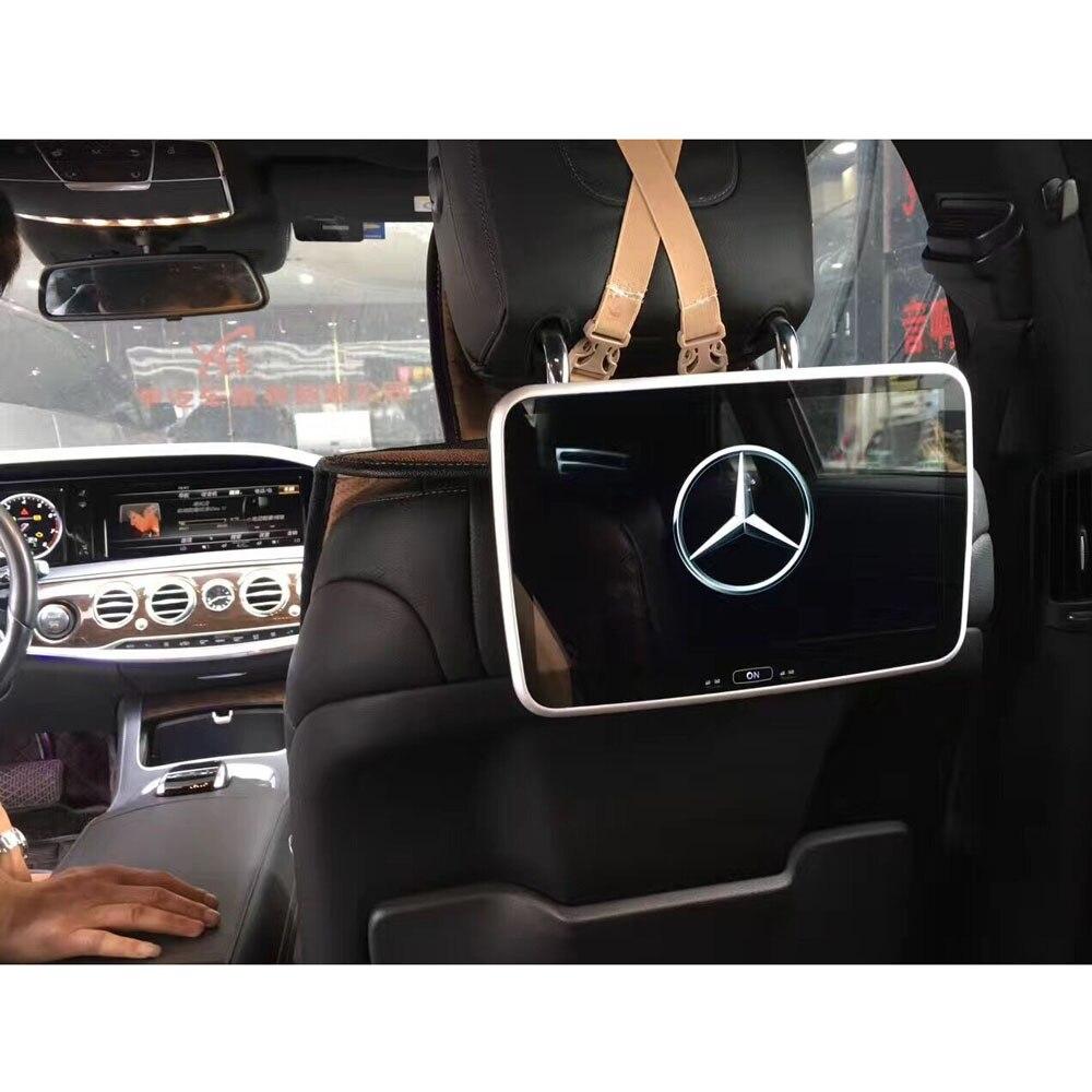 Parte de trás do Assento DVD Player Monitor de Encosto de cabeça Especial para Mercedes-benz Indústria primeiro Android 6.0 IPS HD Encosto De Cabeça cheia Tela de TV