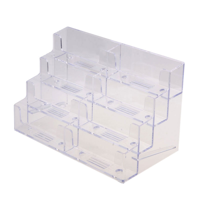 8 pocket high quality desktop clear acrylic business card holder 8 pocket high quality desktop clear acrylic business card holder display stand tool 80472 in storage holders racks from home garden on aliexpress colourmoves