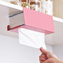 Hanging Type Tissue Box Cover Modern Tissue Canister Storage Box Cover Green Pink Iron Napkin Case Holder Hotel Home Decor Craft