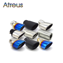 Universal Chrome Stainless Steel Automobiles Car Exhaust Muffler Tip pipe For Toyota Nissan Ford Chevrolet Peugeot Fiat Suzuki