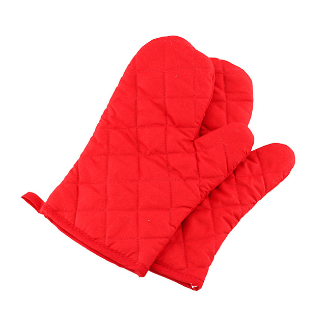 Charmant 2Pc Heat Resistant Gloves Cotton Kitchen Oven Mitts Cooking BBQ Grill Glove  Oven Pot Holder Mitt