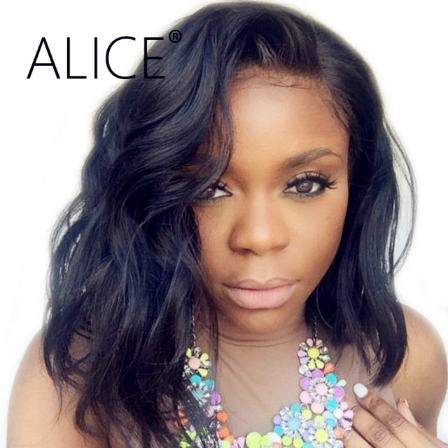 Alice Water Wave Wig 150 Percents Density Glueless Lace Front Human Hair Wig With Baby Hair Remy Brazilian Lace Front Wigs Pre Plucked by Alice