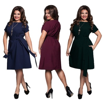 6xl Sexy Party Plus Size Maxi Straight Solid Dresses with belt Elegant Ladies Women Dress Loose Large Sizes Slim Office Vestidos 6