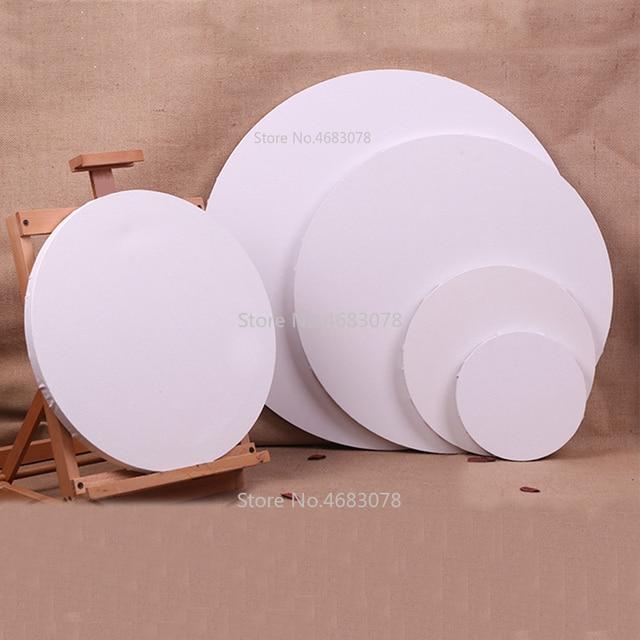 4 قطع التعميم القطن إطار خشبي ل لوحة زيتية قماشية رسومات فنية قماش القطن فارغة قماش لوحات بالجملة