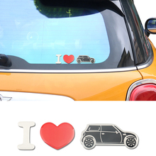 Crystal Epoxy I Love MINI Car Body Sticker Decal For MINI Cooper One JCW R55 R56 R60 F55 F56 F60 Countryman Clubman Car Styling crystal epoxy i love mini car body sticker decal for mini cooper one jcw r55 r56 r60 f55 f56 f60 countryman clubman car styling