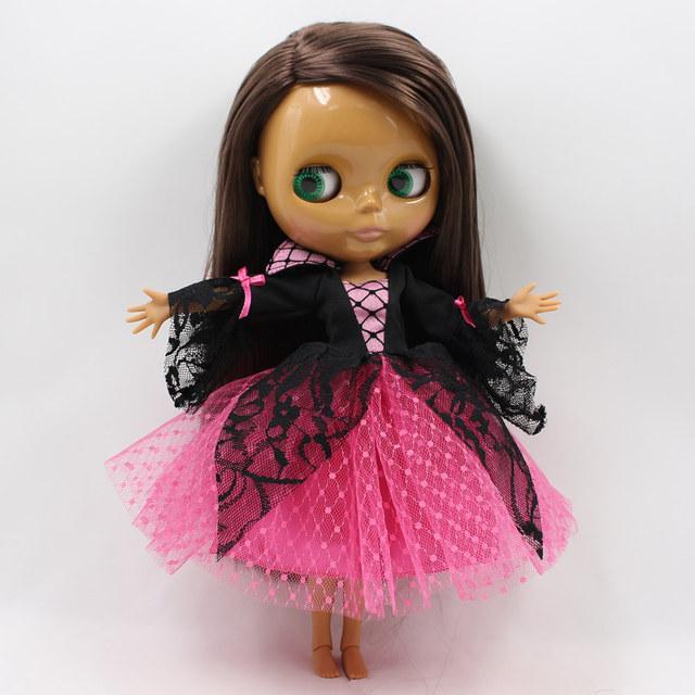 TBL Neo Blythe Doll Brown Hair Dark Skin Jointed Body