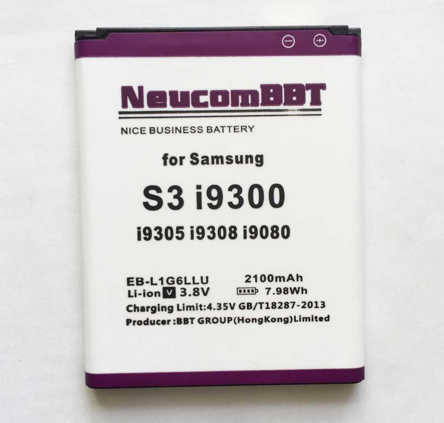 Para Samsung Galaxy S3 i9300 i9305 i9308 T999 i9082 i879 i9080 i9128E i9060 i9301 EB-L1G6LLU 2100 mAh 3 s bateria NeucomBBT