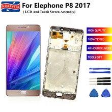 """עבור Elephone P8 2017 LCD תצוגת מסך מגע Digitizer עצרת + מסגרת החלפת 5.5 """"elephone P8 Andriod 7.0 lcd + כלים"""