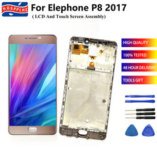 """For Elephone P8 2017 LCD Display Touch Screen Digitizer Assembly +Frame Replacement 5.5"""" elephone P8 Andriod 7.0 lcd + tools"""