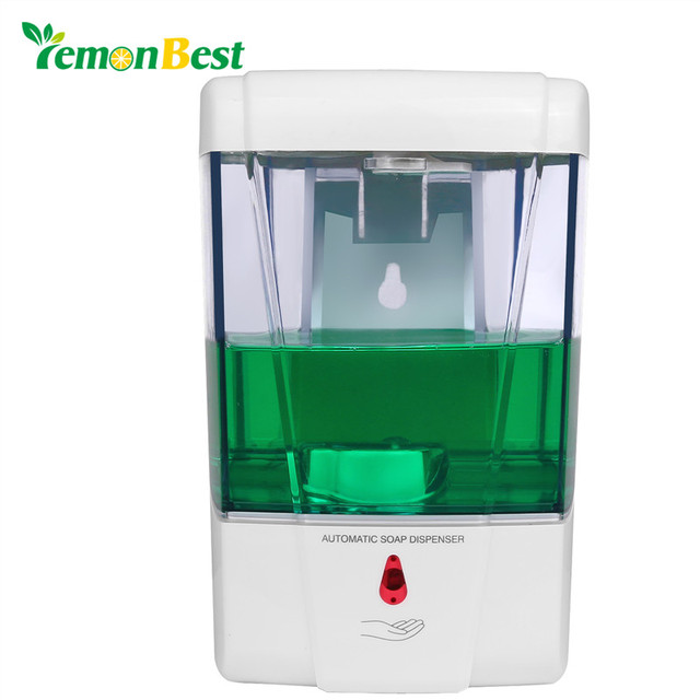 LemonBest 600ml Wall Mount Automatic IR Sensor Soap Dispenser Touch Free  Kitchen Shampoo Soap