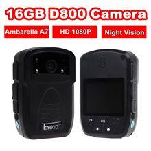 Бесплатная доставка! HD 1080 P ИК Ночного Видения Полиции Camera POV Человека Посмотреть Тело Носить Камера 16 ГБ DVR