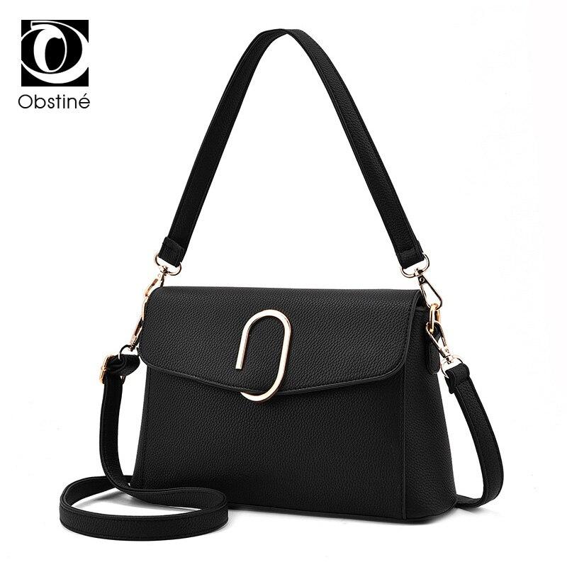 Сумка женская сумки искусственная кожа Портфели маленькие дамы плеча сумки для девочек 2017 модные черные рука сумка