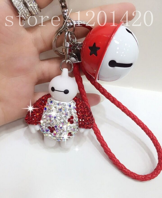crystal Big Hero  Baymax hang adorn, mobile phone accessories, animal is hanged Keychain pendant