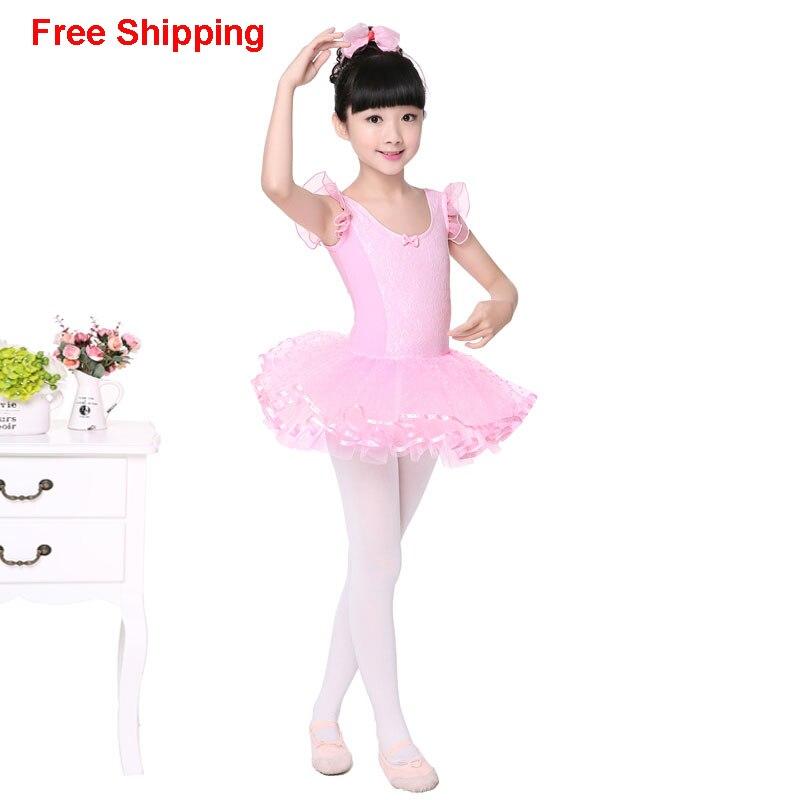 ΞNiñas niños lindo encaje Rosa tutú de Ballet baile vestido sin ...
