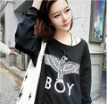 unisex winter autumn 2014 women Eagle London BOY Big bang Loose Print  Long Sleeve Hoodies Sweatshirt