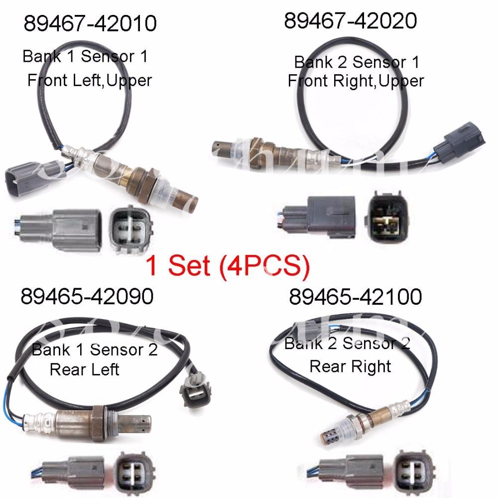 Set(4) 89467-42010 89467-42020 89465-42090 89465-42100 Air Fuel Ratio Oxygen Sensor O2 Complete For 2001 2002 2003 TOYOTA RAV4