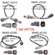 Set(4) 89467-42010 89467-42020 89465-42090 89465-42100 Air Fuel Ratio Oxygen Sensor O2 Complete For 2001 2002 2003 TOYOTA RAV4